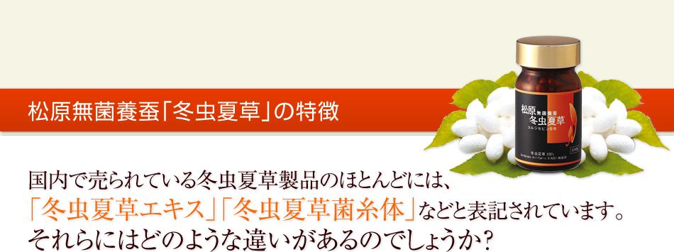 松原無菌養蚕「冬虫夏草」の特徴